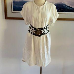 ANDREW MARC White Shift Dress/Tunic